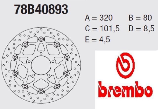 Disco freno BREMBO Serie Oro DELANTERO Triumph 800 RIVALE 13 >