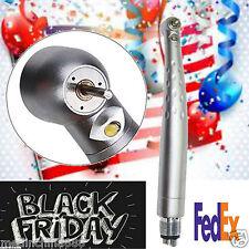 Dental high Speed E-generator Self-Power LED Handpiece Push ButtonTurbine 4H US