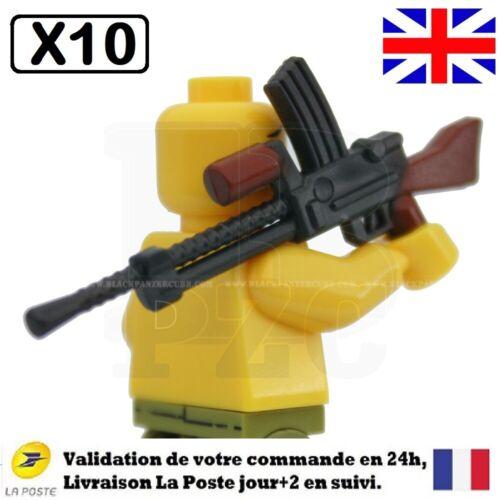 Lego militaire guerre mondiale soldat anglais pack 10 armes WW2 accessoires