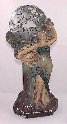 2019 Mode Antik Deutsch Berlin 1900 Jugendstil Mädchen Faun Satyr Statue Gips Spiegel Gute QualitäT