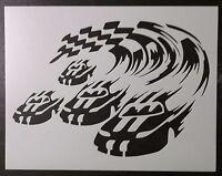 Nascar Car Auto Racing Finish Line 11 X 8.5 Custom Stencil Fast Free Shipping