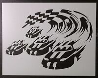 Nascar Car Auto Racing Finish Line 11 X 8.5 Custom Stencil Fast Free Shipping