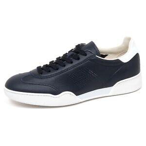 Details about F0670 sneaker uomo dark blu/white HOGAN H357 scarpe H perforated shoe man