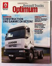 """Le Magazine Renault Trucks """"optimum"""" Construction, une gamme en béton !"""