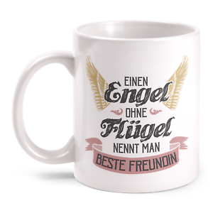 Details Zu Engel Ohne Flügel Beste Freundin Tasse Geburtstag Geschenk Idee Danke Sagen Herz