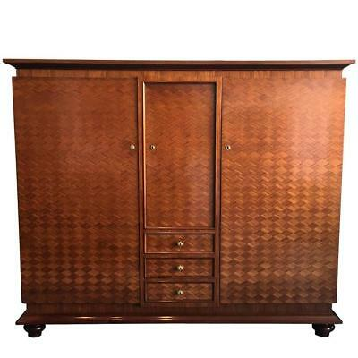 French parquetry Cabinet Armoire by Jules Leleu