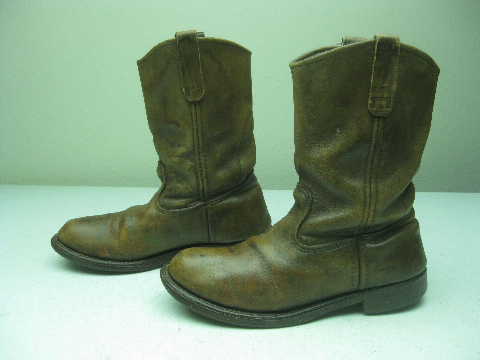 VINTAGE MADE IN USA rot WING braun LEATHER ENGINEER CORK WORK Stiefel Größe 7.5 D