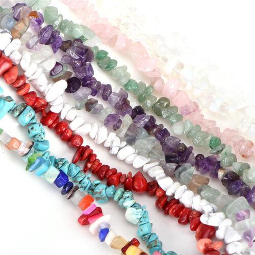 Natürliche Edelsteinperlen Kies Unregelmäßige Geometrie Lose Perlen DIY SchZJP