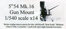 "Starfighter Models 1/500 5"" 54 Mk.16 GUN MOUNTS for Revell Aircraft Carriers"