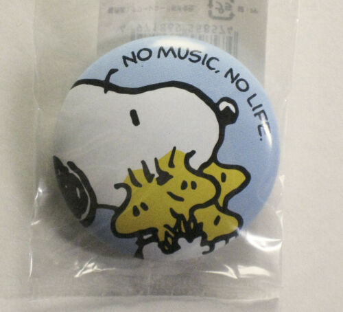 SNOOPY x TOWER RECORDS Snoopy /& Woodstock design Pin-back Button Badge PEANUTS
