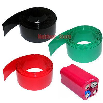 Φ10.8mm Colorful AAA Battery Sleeve PVC Heat Shrink Tubing Wrap Flat Width 17mm