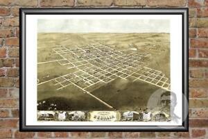 Old-Map-of-Sedalia-MO-from-1869-Vintage-Missouri-Art-Historic-Decor