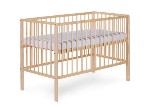 BABY CHILD CLASSIC WOODEN COT BED WITH FREE MATTRESS 120x60cm