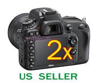 2x Clear Lcd Screen Protector Guard Film For Nikon D600 Digital Slr Camera