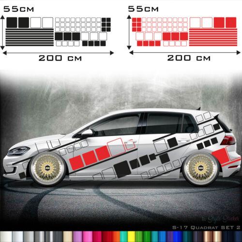 Camouflage Kästen pegatinas set píxeles auto tatuaje racing tiras türseite s17