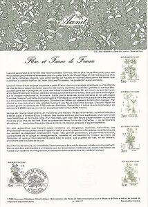 Document-Philatelique-Timbre-1er-Jour-23-04-1983-Flore-amp-Faune-Aconit
