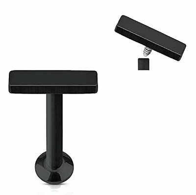 Fashion Jewelry 16g Barre Piercing Labret Monroe Boucles D'oreille Barre 6mm Noir Relieving Rheumatism And Cold