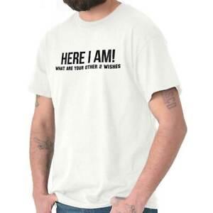 Here-I-Am-Genie-Wishes-Funny-Attitude-Gift-Short-Sleeve-T-Shirt-Tees-Tshirts