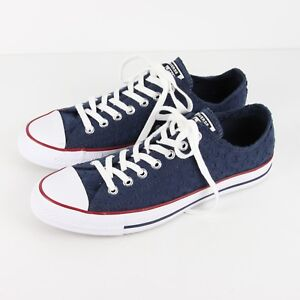 Converse Chuck Taylor All Star OX Sneakers Womens 11 Navy Garnet ... eb07a4dfa9e4f