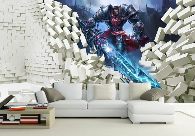 3D Belle Paladin 4 Photo Papier Peint en Autocollant Murale Plafond Chambre Art