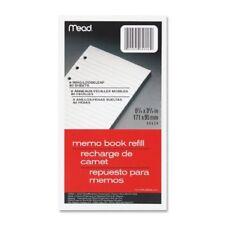 Mead Memo Book Refill Paper 80 Sheet Narrow Ruled 375 X 675 1 Each