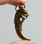 1-8-034-Curio-Chinese-Bronze-Auspicious-Dragon-Head-Tooth-Shape-Small-Amulet-Pendant thumbnail 1
