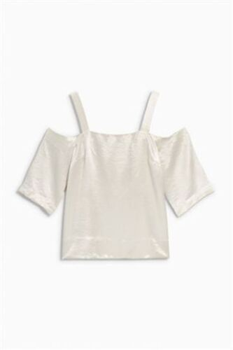 BNWT NEXT Ladies Champagne Metallic Cold Off Shoulder Top