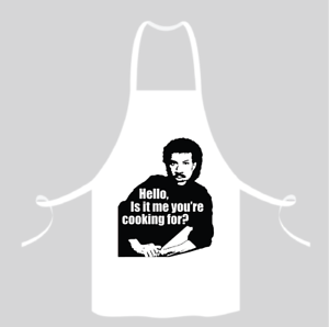 Red Navy or Black Lionel Richie Hello Is It Me You/'re Cooking For? White