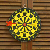 Mini Both Sides Dart Board Pin Set Kids Toy Play Indoor Sports Camping Game