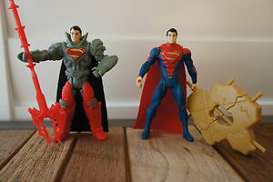 Superman-Concrete-Crusher-amp-Krypton-Combat-Superman-x2-New-Without-Tags