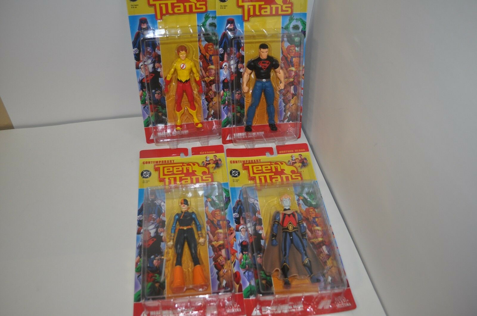 DC DIRECT  CONTEMPORARY TEEN TITANS RAVAGER-BredHER BLOOD-KID FLASH-SUPERBOY-NEW