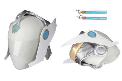 Cosplay Overwatch Symmetra Boucles d/'oreilles bleu accessoires jeu Décorations Halloween Femmes