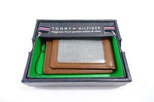 c4dbf2c0267 La imagen se está cargando Tommy-Hilfiger-Marron-Magnetico-Bolsillo-Valet- Cartera-de-