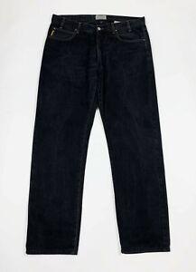 Armani-jeans-uomo-usato-gamba-dritta-W40-tg-54-denim-nero-panta-boyfriend-T6236