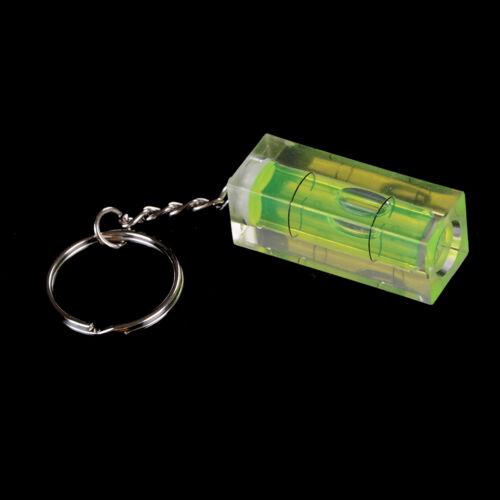 Mini Spirit Level Keyring Keychain Tool DIY Ring Gadget Novelty Gift JB