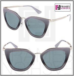 7ef4bdf6382e ... netherlands image is loading prada cinema evolution sunglasses 53s  smoky grey silver 4e7ef 056c3