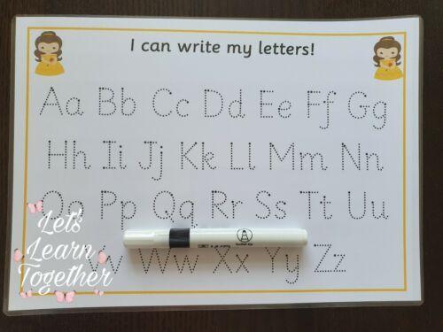 EYFS-KS1-SEN-ASD Full Set of Upper and Lowercase Alphabet//Letter Formation Mats