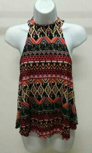 H-I-P-Happening-In-The-Present-Women-s-Multi-Color-Sleeveless-Top-Size-S