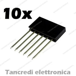 10x-Connettori-Strip-Line-Femmina-6-poli-10x1-Header-Socket-Female-arduino