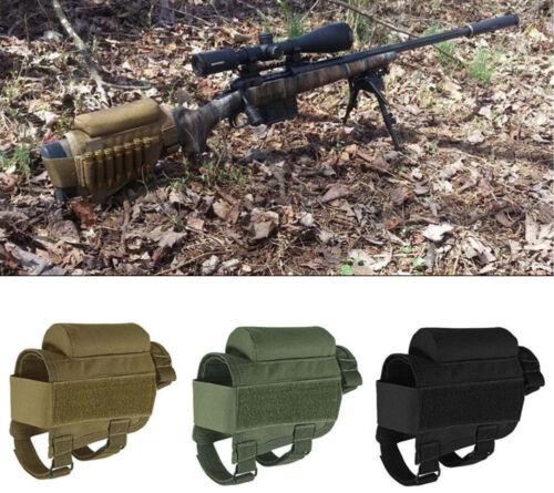 Fusil Buttstock Shell Holder /& Rembourré Cheek Rest munitions cartouche Pochette-Noir