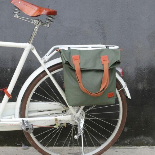 Tourbon Bicycle Cycling Rear Seat Carry Pannier Bag Brown Bike Back Seat Pouch