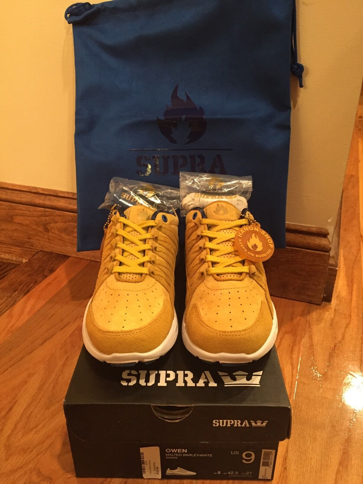 Supra X Hanon Owen Whiskey Gold S50055 size 9 BRAND NEW