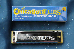 Chicago Blues Harmonica by Kay in the Key of C, KHBC-C