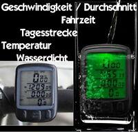 Fahrrad Computer Digital Temperatur Kilometerzähler Fahrzeit Wasserfest Beleucht