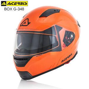 CASCO-MODULARE-ACERBIS-BOX-G-348-APRIBILE-OMOLOGATO-MOTO-SCOOTER-ARANCIO-FLUO