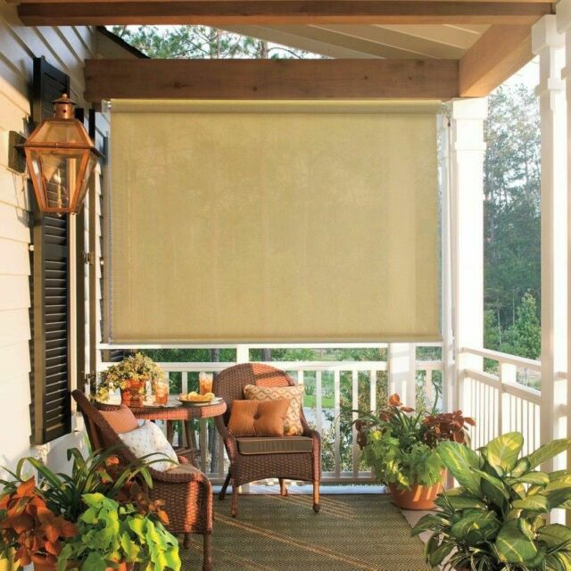 Shade 8x6 Outdoor Deck Blinds Roll Up