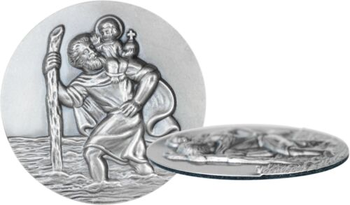 Auto protección plaquita santo Sankt St Christophorus 3d en relieve de 6,5 cm XL formato