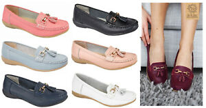 Womens-Leather-Flat-Shoes-Jo-amp-Joe-Leather-Moccasins-Shoes-Formal-Casual-Shoes