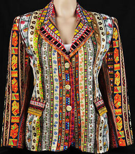 Evelyne-Mandel-Psychedelic-Coat-of-Dreams-Embroidered-Ribbon-Jacket-Blazer-Retro