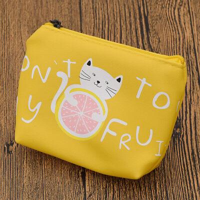 Cute Girls Lovely Animal Cat Zipper Case Coin Purse Kids Wallet Mini Makeup Bag